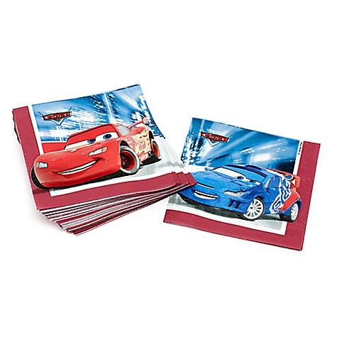 Lot de 20 serviettes de fête Disney Pixar Cars