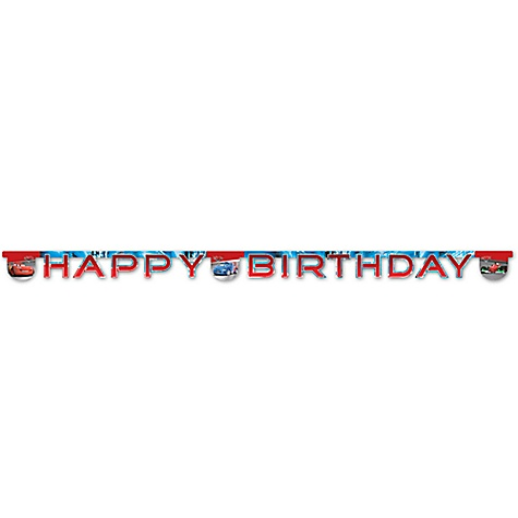 Banderole Disney Pixar Cars Happy Birthday