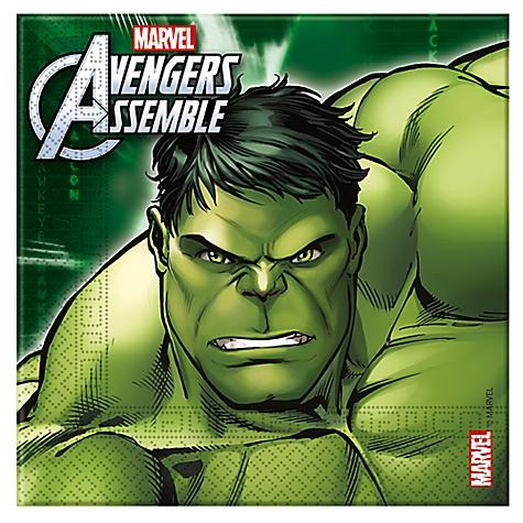 Lot de 20 serviettes de fête Avengers