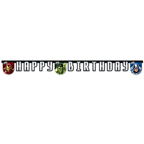 Guirlande d'anniversaire Avengers