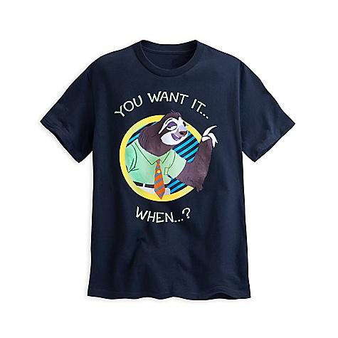 T-shirt Sloth de Zootopie pour hommes-XL