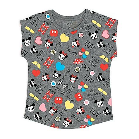 T-shirt Emoji Mickey et Minnie Mouse pour enfants-4 ans