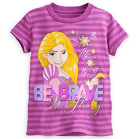 T-shirt Raiponce Be Brave pour enfants-4 ans