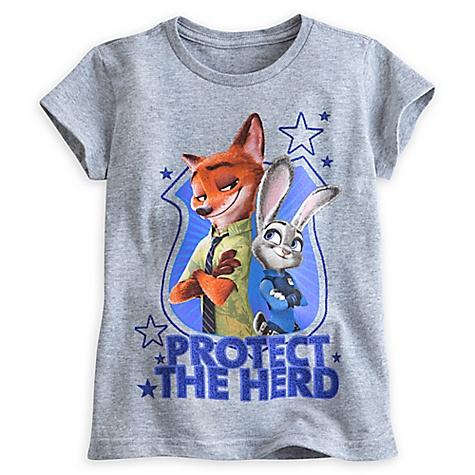 T-shirt Nick et Judy de Zootopie pour enfants-7-8 ans
