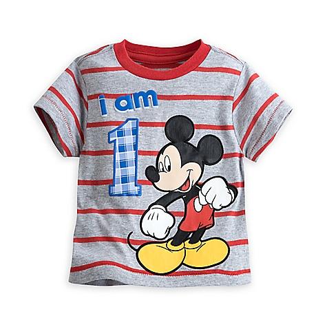 T-shirt Mickey Mouse avec âge pour enfants-1 an