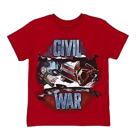 T-shirt Captain America Civil War pour enfants-7-8 ans