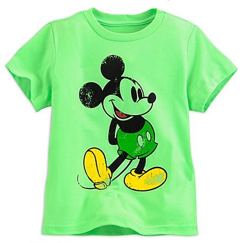 T-shirt Mickey Mouse vert pour enfants-4 ans