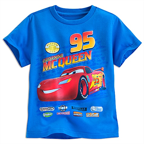 T-shirt Flash McQueen, Disney Pixar Cars pour enfants-4 ans