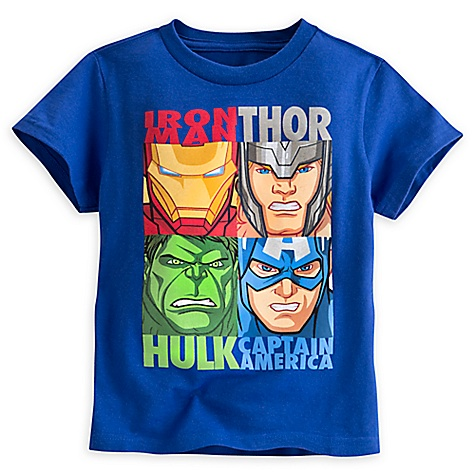 T-shirt Carré Avengers pour enfants-4 ans