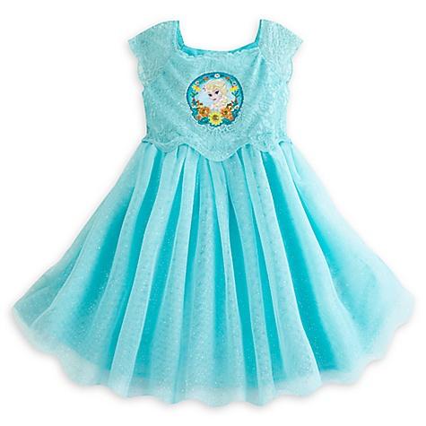 Robe de luxe La Reine des Neiges : une Fête Givrée pour enfants-7-8 ans
