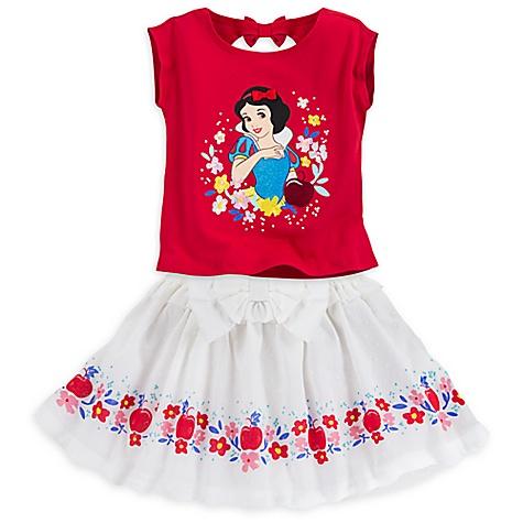 Ensemble haut et jupe Blanche Neige pour enfants-5-6 ans
