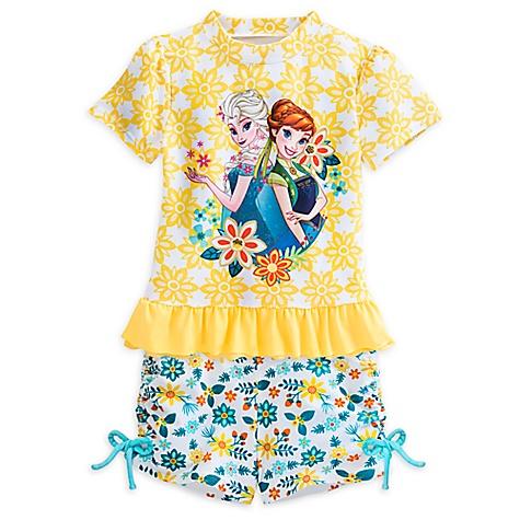 Ensemble 2 pièces protection solaire La Reine des Neiges pour enfants-5-6 ans