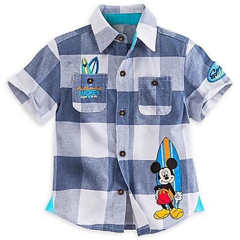 Chemise tissée Mickey Mouse pour enfants-3 ans