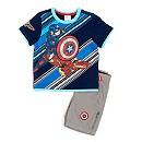 Ensemble t-shirt et short Marvel Avengers Captain America pour enfants