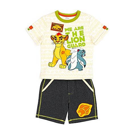 Ensemble t-shirt et short La Garde du Roi Lion pour enfants-4 ans