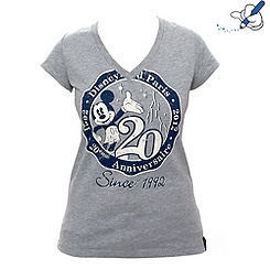 T-shirt ajusté col V pour femme Collection Signature de Disneyland Paris