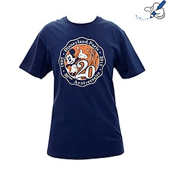 T-shirt bleu marine pour homme Collection Signature de Disneyland Paris