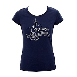 T-shirt ajusté bleu marine Collection Signature Disneyland Paris