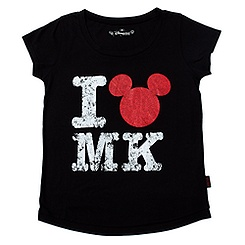 T-shirt I love Mickey collection Disney land Paris pour femmes